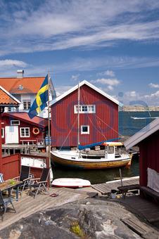 Schwedenhaus am meer  Bildagentur Pitopia - Bilddetails - Gullholmen in Schweden ...