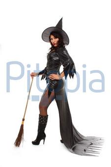 Bildagentur Pitopia Bilddetails Sexy Hexe Am Besen Anja