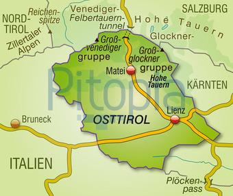 Bildagentur Pitopia Bilddetails Karte Von Osttirol Artalis