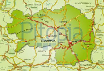 Bildagentur Pitopia Bilddetails Karte Von Steiermark Artalis