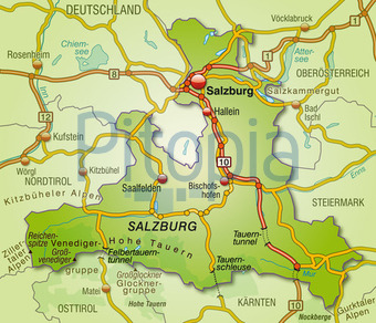 Bildagentur Pitopia Bilddetails Karte Von Salzburg Artalis