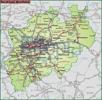 Bildagentur Pitopia Bilddetails Karte Von Nordrhein Westfalen