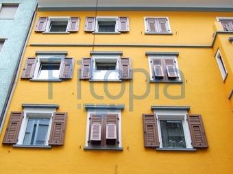 Fassade Gelb bildagentur pitopia bilddetails gelbe fassade beate türk bild