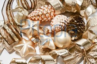 Weihnachtsdeko Gold.Bildagentur Pitopia Bilddetails Weihnachtsdeko In Braun Und Gold