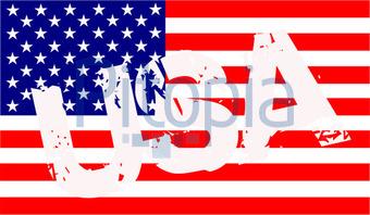 Bildagentur Pitopia  Bilddetails  USA Flagge mit Schriftzug