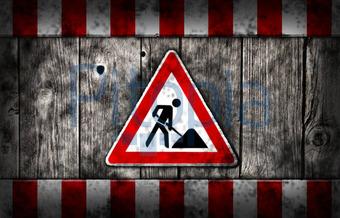 Baustelle schild frau  Bildagentur Pitopia - Bilddetails - Baustelle (drizzd) Bild ...