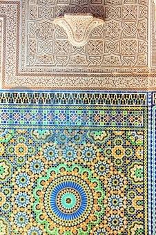 Bildagentur Pitopia Bilddetails Innenwand Einer Stampflehmburg - Mosaik fliesen marokko