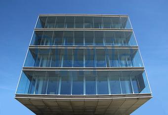 Fassade glas haus  Bildagentur Pitopia - Bilddetails - Quaderfoermiges modernes ...