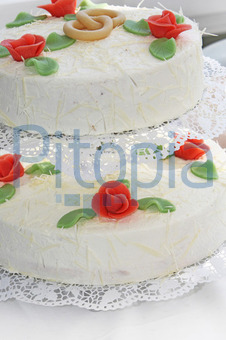 Bildagentur Pitopia Bilddetails Hochzeitstorte Mit Marzipan