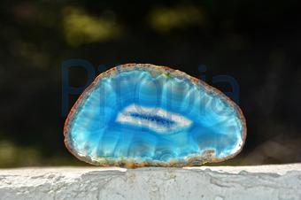 Bildagentur Pitopia Bilddetails Blauer Achat Auf Weisser Mauer