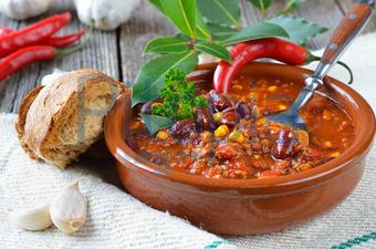 Bildagentur Pitopia Bilddetails Chili Con Carne Mit Brot Karl