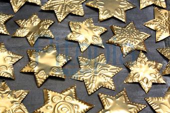 Weihnachtsbasteln Sterne Aus Goldpapier.Basteln Weihnachten Goldpapier Atellens