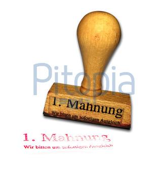 Bildagentur Pitopia Bilddetails Stempel Mahnung Kraftzwerg