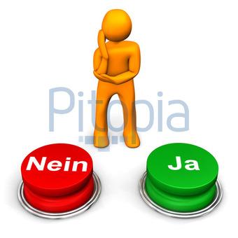 Bildagentur Pitopia Bilddetails Mannchen Ja Nein Entscheidung