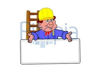 Baustelle schild comic  Bildagentur Pitopia - Bilddetails - Bauarbeiter (Jörn Hölscher ...