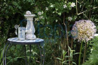 bildagentur pitopia - bilddetails - tischchen mit dekoration in, Garten Ideen
