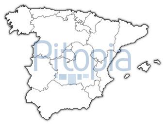 Spanien Karte Schwarz Weiß.Bildagentur Pitopia Bilddetails Spanienkarte Gesamtansicht