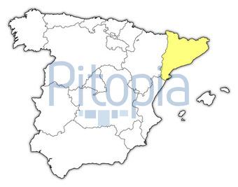 Spanien Karte Schwarz Weiß.Bildagentur Pitopia Bilddetails Spanienkarte Katalonien