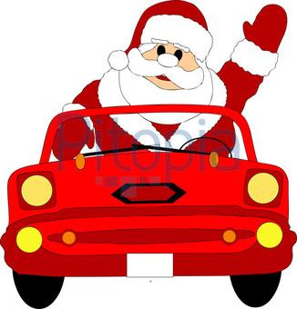 Bildagentur Pitopia Bilddetails Weihnachtsmann Im Auto M Roder