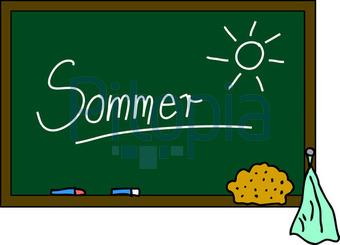 Schultafel mit kreide und schwamm  Bildagentur Pitopia - Bilddetails - Schultafel Sommer (M.Röder ...
