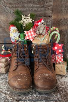 Bildagentur Pitopia Bilddetails Stiefel Mit Geschenken Und