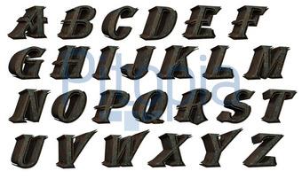 Bildagentur Pitopia Bilddetails Alphabet Set Futuristisch