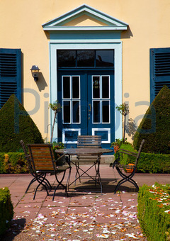 Haustür landhaus blau  Bildagentur Pitopia - Bilddetails - Landhaus (Regina Hachmeister ...