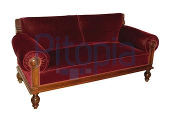 Bildagentur Pitopia Bilddetails Antikes Sofa Mit Rotem Samtbezug