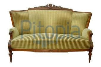 Bildagentur Pitopia Bilddetails Antikes Sofa Mit Gestreiftem