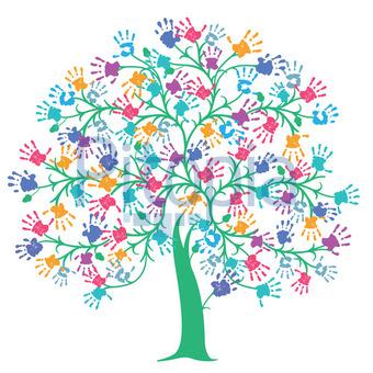 Bildagentur Pitopia Bilddetails Baum Mit Bunten Handabdrucken