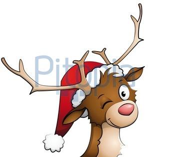 Comic Bilder Weihnachten Kostenlos.Bildagentur Pitopia Bilddetails Rentier Mit Weihnachtsmütze Auf