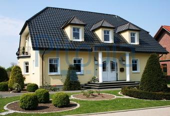 Einfamilienhaus neubau mit erker  Bildagentur Pitopia - Bilddetails - Elegantes Einfamilienhaus ...