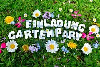 bildagentur pitopia - bilddetails - gartenparty gartenfest text (s, Einladung