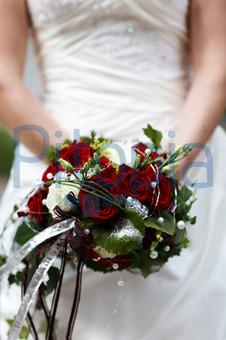 Bildagentur Pitopia Bilddetails Brautstrauss Weisse Rote Rosen