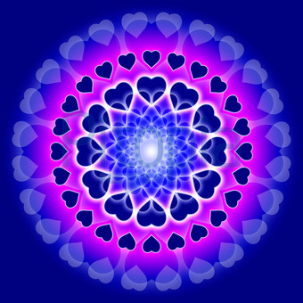 Bildagentur Pitopia Bilddetails Blue Love Mandala Circle Of