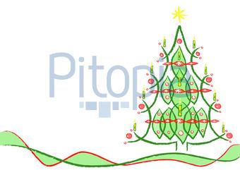 Weihnachtsbaum Gezeichnet.Bildagentur Pitopia Bilddetails Geschmückter Weihnachtsbaum
