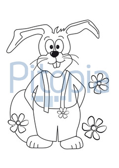 Bildagentur Pitopia   Bilddetails   Osterhase mit Blumen (Eva