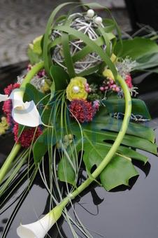 Bildagentur Pitopia Bilddetails Blumenschmuck Von Brautauto