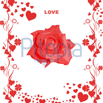 Valentinstag Glückwunsch (Glanzhose)   Lizenzfrei (royalty Free)