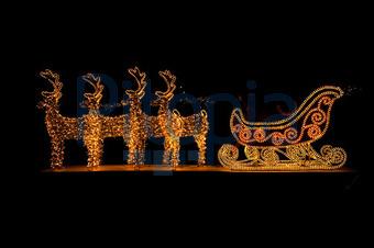 Weihnachtsbeleuchtung Schlitten.Bildagentur Pitopia Bilddetails Beleuchteter Rentierschlitten