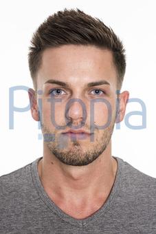 Bildagentur Pitopia Bilddetails Männergesicht Mit Blauen Augen