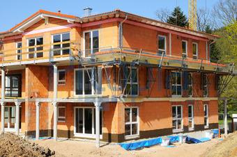 Haus bauen baustelle  Bildagentur Pitopia - Bilddetails - Rohbau (XXLPhoto) Bild 1102121 ...