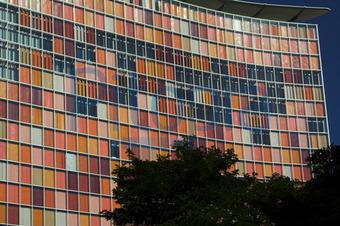 Glasfassade bunt  Bildagentur Pitopia - Bilddetails - Fassade (Lutz Wallroth) Bild ...